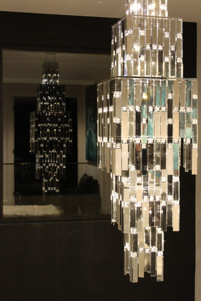 Manhattan Chandelier Mirror Crystal Stunning Luxury Light Fitting
