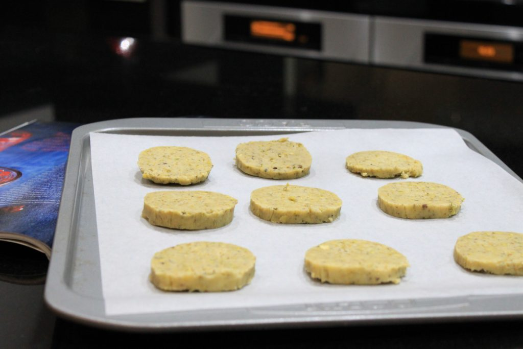 Cut out pistachio cookies