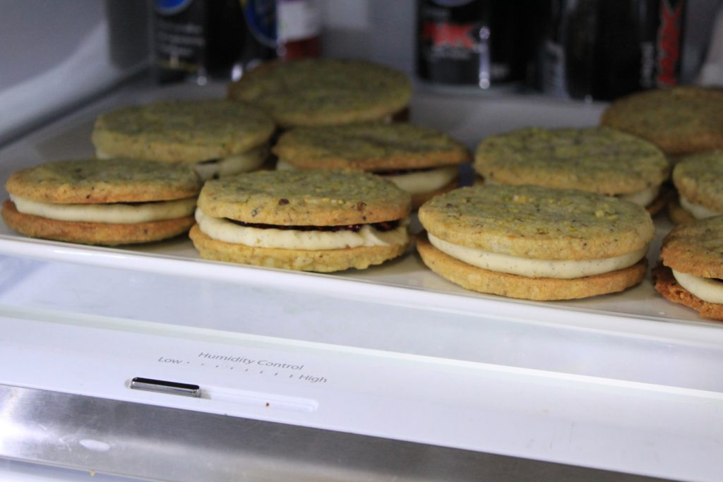 sandwich cookies in the refrigerator