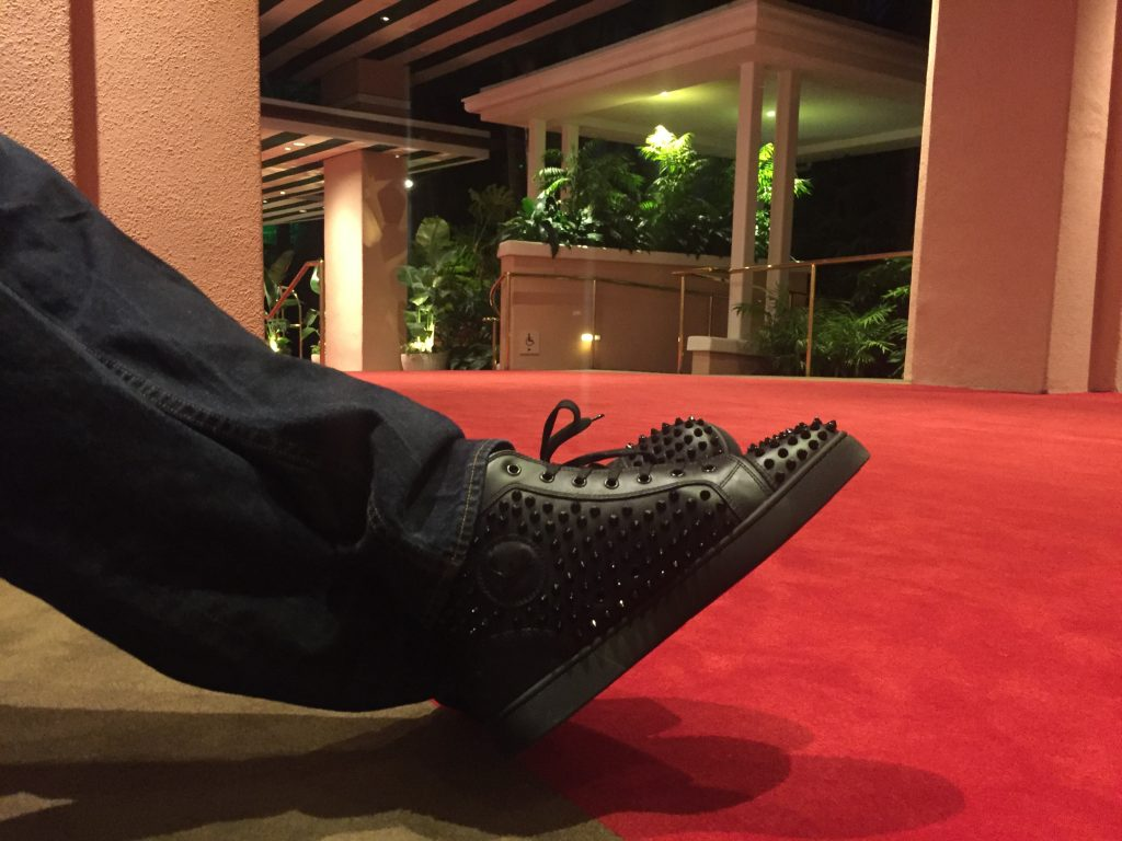 Christian Louboutin Red Soles Red Carpet The Beverly Hills Hotel