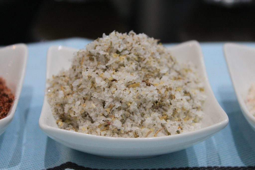 Basil, Thyme, Oregano and Garlic sea salt flakes