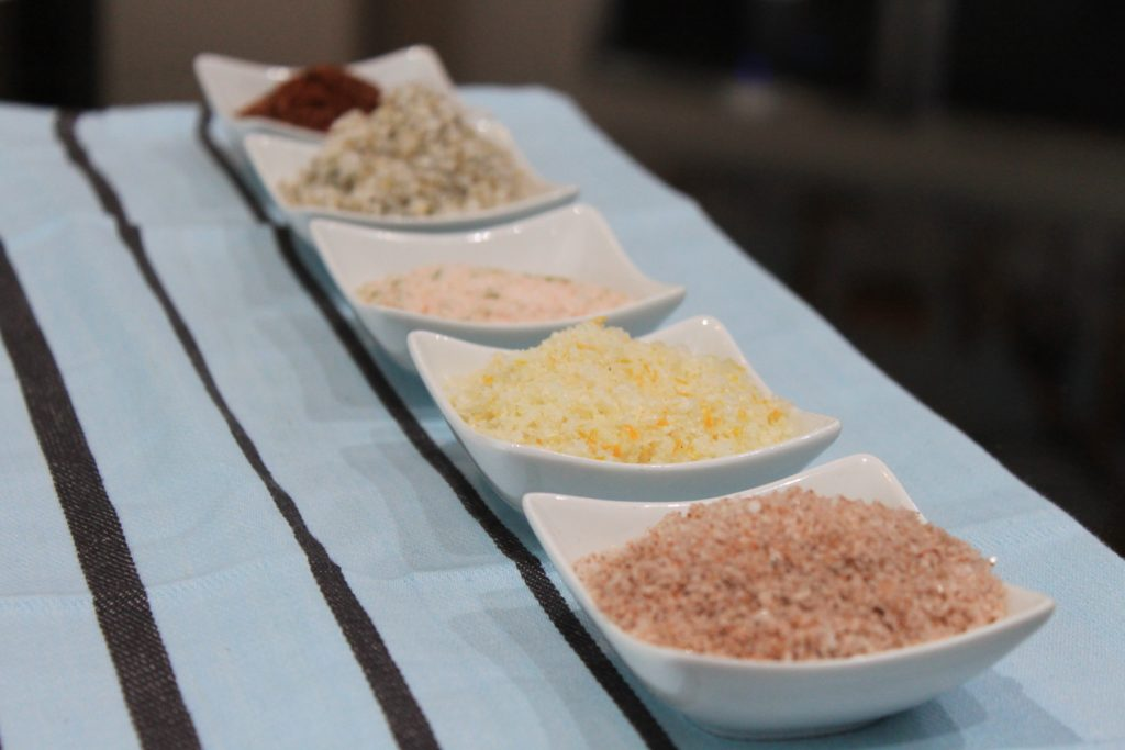 Line of flavored sea salt flakes