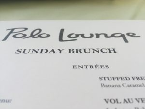 Polo Lounge Sunday Brunch Menu Header
