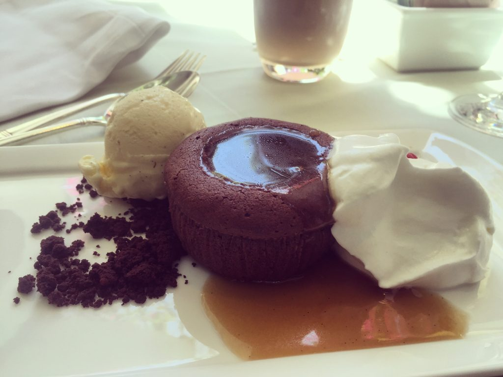 Polo Lounge Brunch Chocolate Molten Lava Cake